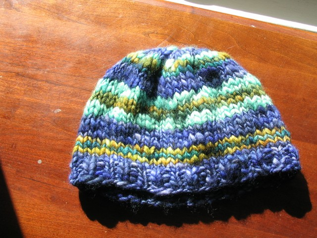 Blue Green Chunky Hat